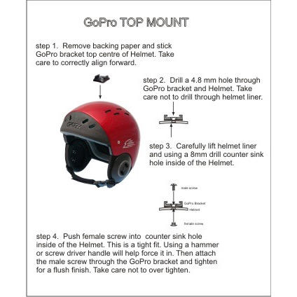 gath gopro top mount kit instructions